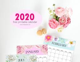 Free Calendar 2020 Printable 12 Cute Monthly Designs To Love