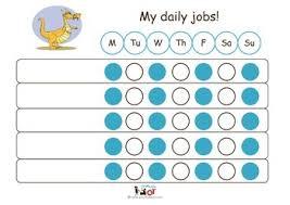 Kids Daily Chore Chart Child Daily Chore Chart Dragon Plain