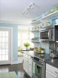 Blue Paint For Kitchen Kitchen White Cabinets Blue Walls Cliff Kitchen