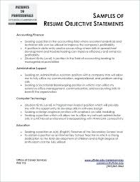 Examples Of Resume Objective Statements Best Of Resume Objective For Marketing Position Resume Objective Examples