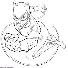 Small Picture Catwoman coloring pages to download and print for free
