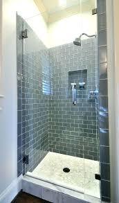 shower stall tiles tiled insert barrier free tile excellent shelf ice glass subway shelves c