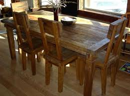 rustic dining table and chairs. Rustic Teak Wood Furniture Made Of Reclaimed Wood. Dining Chairs And Table Set C