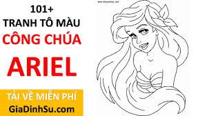 MIỄN PHÍ] sách 101+ tranh tô màu công chúa Ariel cho bé - Nàng tiên cá -  tại Giadinhsu.com - YouTube