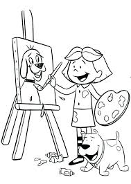 Paint Coloring Pages Paint Brush Coloring Page Paint Brush Coloring