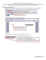 Form Microsoft Word How To Create A Fill In Form With Microsoft Word
