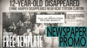 Newspaper Template After Effects Free Newspaper Template After Effects Free