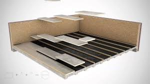ground floor floating floor timber frame