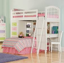 Bedroom: Best Twin Over Bunk Bed With Desk For Teenage Girls ...
