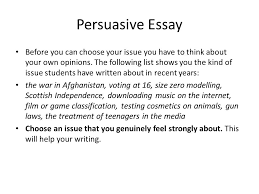 national persuasive essay ppt video online  persuasive essay