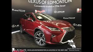 Red 2018 Lexus Rx 350 Executive Package Walkaround Review Downtown Edmonton Alberta