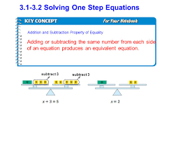 3 1 3 2 solving one step equations subtract 3 adding or subtracting the same number from