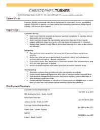 Customer Service Resume Templates Cool Customer Service Representative CV Example For Retail LiveCareer