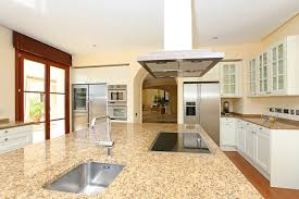 White Kitchen With Granite Counters Elegant White Kitchen Cabinets With Granite Countertops And