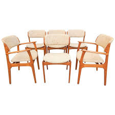 mid century danish modern erik buch dining chair set of six