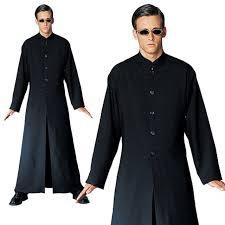 the matrix neo cybe man mens fancy costume one size robe glasses