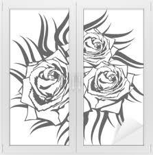 černá Růže Na Bílém Pozadí Tetování Element