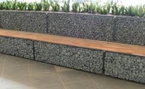 gabion stone fencing ideas gabion fence seat idea