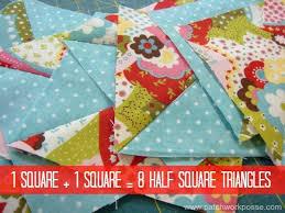 115 best Half square triangle tricks images on Pinterest ... & 8 Half Square Triangles at Once Tutorial Adamdwight.com