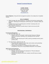 Functional Resume Templates Examples Service Industry Resume