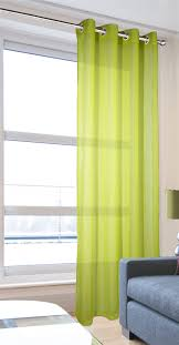 leona lime eyelet linen texture voile curtain panel