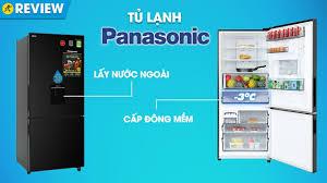 Tủ lạnh Panasonic 368L: cấp đông mềm và lấy nước ngoài kháng khuẩn  (NR-BX410WKVN) • Điện máy XANH - YouTube