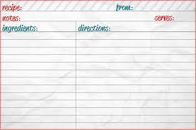 recipe template free free recipe card template