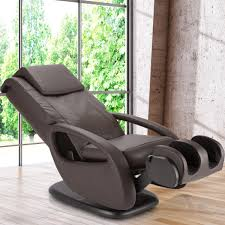 massage chair modern. modern design massag chair wooden floor glass windows curved shape brown colored leather material square pedestal simple massage c