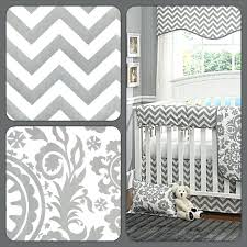 another gray and white baby bedding set from the popular chevron looks navy crib