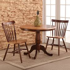international concepts cinnamon espresso 3 piece dining set with round dining table