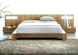 Flat Platform Bed Excellent Panel With Lighted Nightstands Queen ...