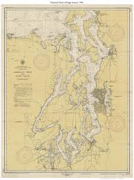 Admiralty Inlet And Puget Sound 1946 Nautical Map Reprint 6401 Washington Big Area Post 1917