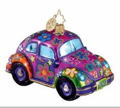 Amazon.com : Click Car VW Beetle Flower Power Orange Wired Optical ...