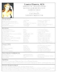 Resume Format For Actors Acting Resume Sample Download Resume Format ...