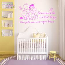 winnie the pooh wall stickers dog butterfly vinyl wall art quote sticker girl boy kids nursery love decal home decor in wall stickers from home garden on  on girl nursery vinyl wall art with winnie the pooh wall stickers dog butterfly vinyl wall art quote
