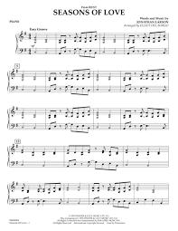 Download Seasons Of Love Piano Sheet Music By Jonathan Larson