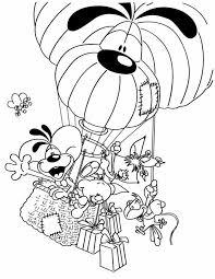 Kleurennu Diddl In De Luchtballon Kleurplaten
