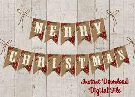 Christmas Banner Printable Merry Christmas Banner