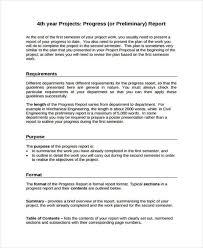 Project Progress Report Sample 19 Progress Report Templates Free Pdf Apple Pages