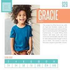 Lularoe Kids Size Chart Lularoe Gracie 12 Purple Stripes