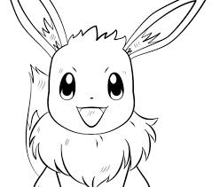 Small Picture Eevee Pokemon Coloring Page Free Printable Coloring Pages Coloring