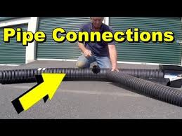 yard drain tips drain pipe 6 inch pipe catch basin connections cutting diy