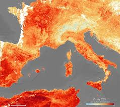 Satellite Weather Chart Heatwave Europe Is Burning At 105 Degrees In Terrifying