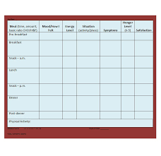 Free Printable Food Log Sheets 40 Simple Food Diary Templates Food Log Examples