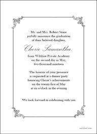 Formal Graduation Announcement Formal Graduation Invitations
