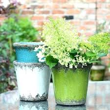 rustic plant pots brights metal garden planters pot holders art by ceramic