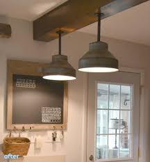 DIY: Galvanized Colanders Ceiling Light Tutorial - wood-lamps, flush-mount-