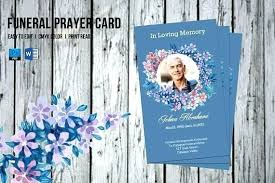 Funeral Prayer Cards Funeral Memorial Card Template Noorwood Co
