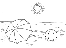 Small Picture Summer Themed Coloring Page Coloring Home