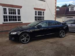 2010 Audi A5 2.0 Tfsi Petrol SPORTBACK 5 Door Black edition wheels ...